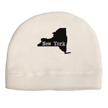 New York - United States Shape Adult Fleece Beanie Cap Hat by TooLoud