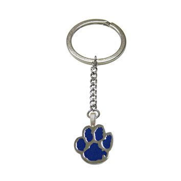 Blue Animal Paw Pendant Keychain
