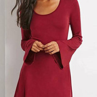 Red Swing Long Sleeve Dress