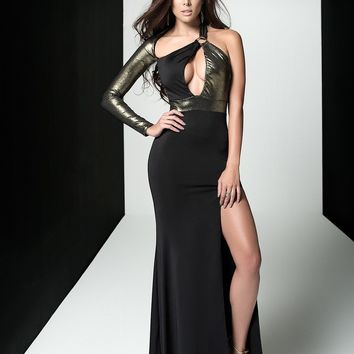 Asymmetrical Shimmering Gown