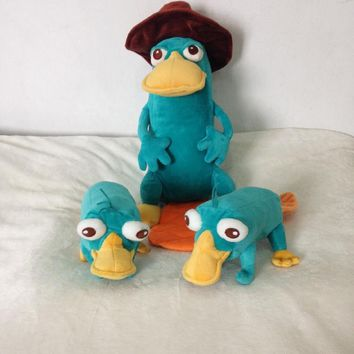 Phineas and Ferb Perry the Platypus Plush Toy Cute Stuffed Animals Kids Toys for Children Christmas Gifts