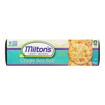 Miltons Gourmet Baked Crackers - Crispy Sea Salt And Butter - Case Of 12 - 6.7 Oz.