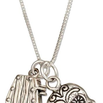 """Sterling Silver 18"""" Coffin And Sugar Skull Pendant Day Of The Dead Necklace"""