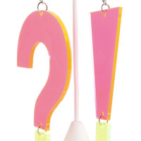 Question Mark & Exclamation Point Earrings by Marina Fini