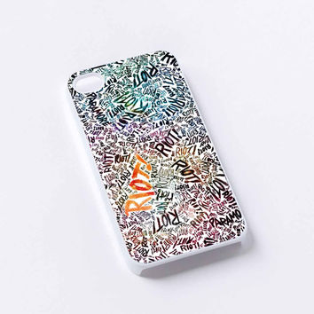 paramore riot raibow iPhone 4/4S, 5/5S, 5C,6,6plus,and Samsung s3,s4,s5,s6