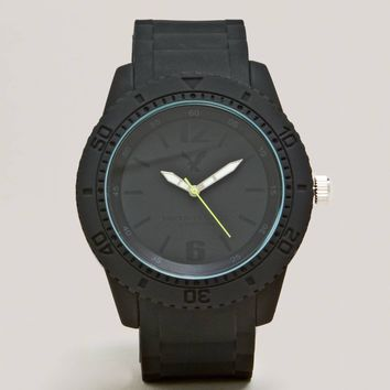 AEO Black Rubber Watch | American Eagle Outfitters