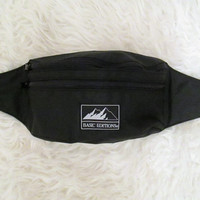 Vintage 1990s Black Basic Editions Fanny Pack