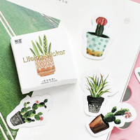 45 pcs pack Pot Cultured Green Plants Label Stickers Decorative Stationery Stickers Scrapbooking DIY Diary Album Stick Label