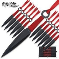 Ridge Runner 24-Pc Throwing Knife Set With Nylon Pouch