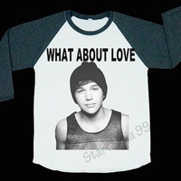 Austin Mahone What About Love TShirt Austin Mahone T Shirt Rock TShirt Baseball Shirt Long Sleeve Shirt Women TShirt Unisex Shirt Size S,M,L