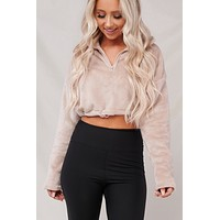 Feeling It Cropped Jacket (Tan)