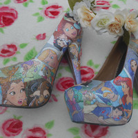 Disney Princess Decoupage Glitter Story Book Heels
