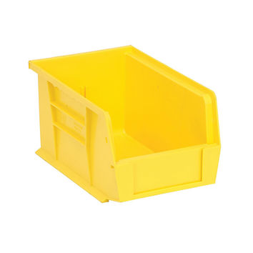 Quantum Storage Systems Ultra Stack And Hang Bin - 9-1/4Lx 6Wx 5H - Yellow Pack Of 12