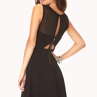Striking Cutout Skater Dress