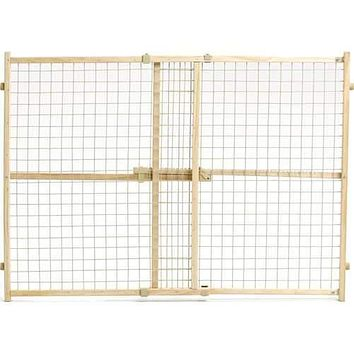 Wood/wire Mesh Pet Gate