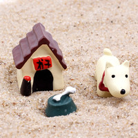 3PCS / Set Resin Model Dog World Ornaments Accessory Resin Craft Figurines & Miniatures for Home Garden Decoration