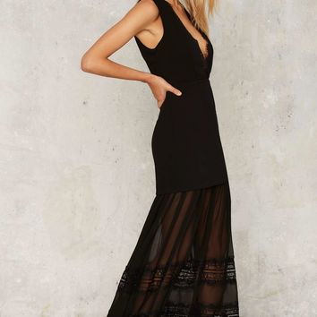 Nasty Gal Now You See Me Maxi Dress