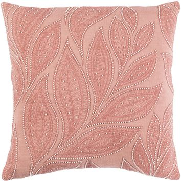 Tansy Throw Pillow Orange, Pink