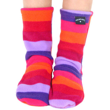 Kids' Fleece Socks - Jellybean