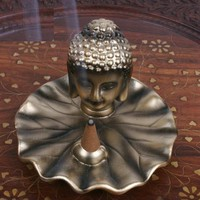 Buddha Head Incense Burner
