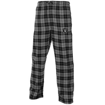 Oakland Raiders Roster Flannel Pants - Black/Silver