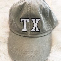 State Outline Hat- STONE