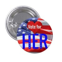 Vote for Her Hillary Clinton President Elections Button