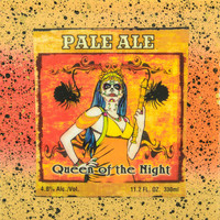 Dia De Los Muertos - Queen Of The Night - Pale Ale - Handmade Recycled Tile Coaster