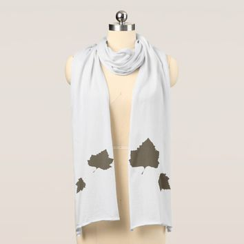 Stylish Sycamore Buttonwood Tree Leaf Jersey Scarf