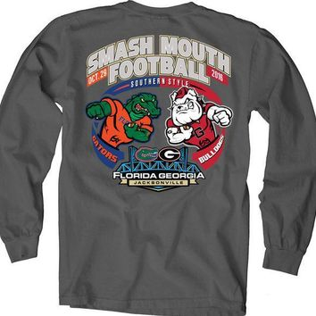ICIKG8Q NCAA Florida Vs Georgia Dark Charcoal Smash Mouth 2016 Game Day Long Sleeve T-Shirt