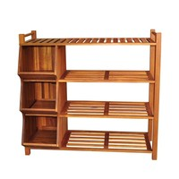 Four Tier Outdoor Shoe Rack and Cubby
