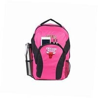 nba chicago bulls draftday backpack, 18-inch, fuchsia