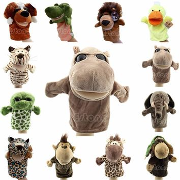 Kids Cute Plush Velour Animals Hand Puppets