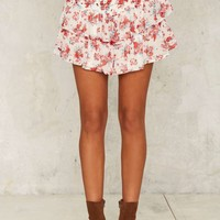 Nasty Gal Tier You Apart Floral Skirt