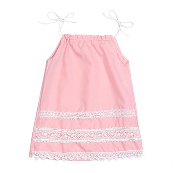Children Girl Dress Summer Lace Embroidery Suspenders Princess Dress Party Wedding Dresses For Girls Clothes