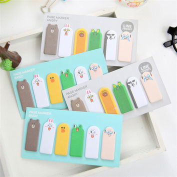 Creative Mini Kawaii Finger Paper Sticky Memo Pad Cute Cartoon Animal Post It Note Korean Stationery Free Shipping 263