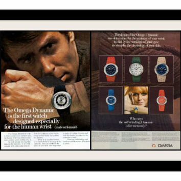 1969 Omega Dynamic Watch Ad, Vintage Advertisement Print
