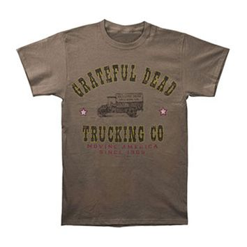Grateful Dead Men's  Grateful Dead Truckin T-shirt Beige Rockabilia