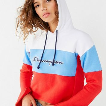 Champion Reverse Weave Cropped Bell-Sleeve Hoodie | Urban Outfitters