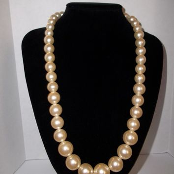 Vintage Imitation Champagne Pearl Necklace