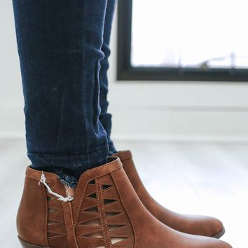 Tried & True Booties - Cognac