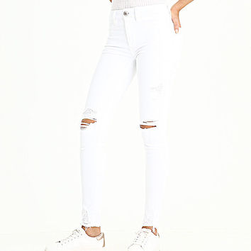 AE Ne(x)t Level Hi-Rise Jegging, White Out Destroy