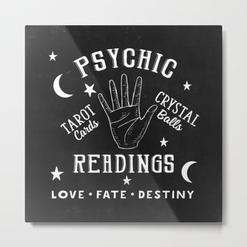 Psychic Readings Fortune Teller Art Metal Print by PeachAndGold