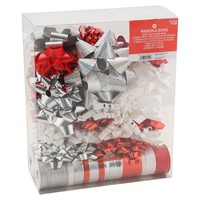 Spritz Bow/Ribbon Kit - Red/White/Silver/Black : Target