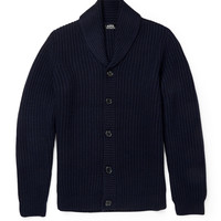 A.P.C. - Ribbed-Knit Wool Shawl-Collar Cardigan | MR PORTER