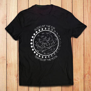 Moon Phase Shirt // Astronomy Mens TShirt - Mens Shirts - Gift for Boyfriend // Boho Clothing - Bohemian Tops // Groomsmen Gift