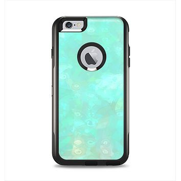 The Bright Teal WaterColor Panel Apple iPhone 6 Plus Otterbox Commuter Case Skin Set