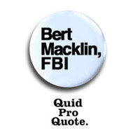 Parks & Recreation- Andy Dywer - Bert Macklin FBI pinback button