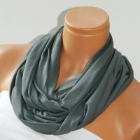 Infinity Scarf,Loop Scarf,Circle Scarf, textile gray Scarf,Cowl Scarf,Nomad Cowl....