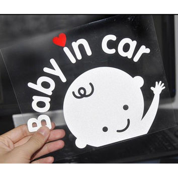 Dongzhen Cartoon Car Styling Reflective Vinyl Sticker Baby In Car Sticker Baby on Board Car-cover Accessories